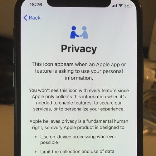 FUTURE WITH APPLE'S NEW FEATURE FOR IOS11.3: UNDERSTANDING WHAT PRIVACY ICON IS?